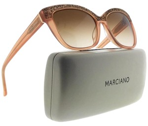 Guess By Marciano GM0730-45F-55 Cat Eye Women's Gold Frame Brown Lens Sunglasses NWT