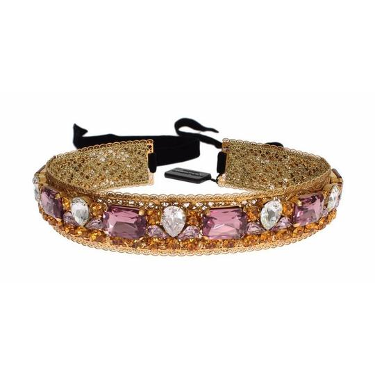 Dolce&Gabbana D19550 Women's Crown Gold-plated Crystal Sicily Headband (One Size)