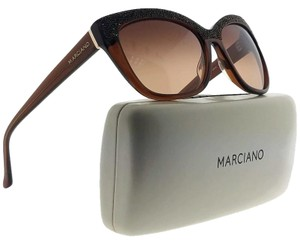 Guess By Marciano GM0730-50F-55 Cat Eye Women's Brown Frame Brown Lens Sunglasses NWT