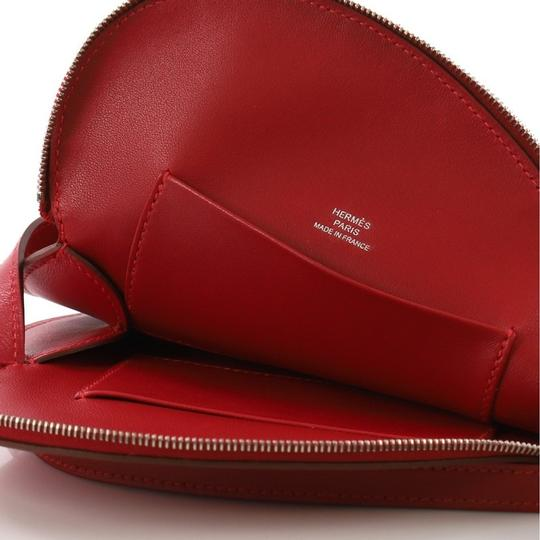 Hermès Leather Wristlet in Red Rouge