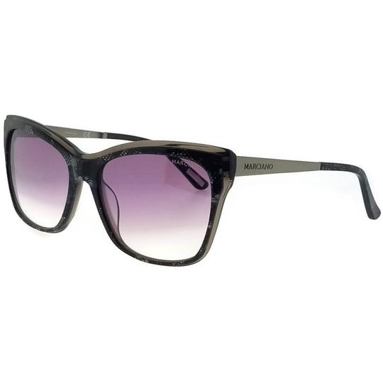 Guess By Marciano GM0739-05C-57 Cat Eye Women's Black Frame Grey Lens Sunglasses NWT
