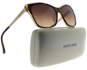 Guess By Marciano GM0739-50F-57 Cat Eye Women's Brown Frame Brown Lens Sunglasses NWT