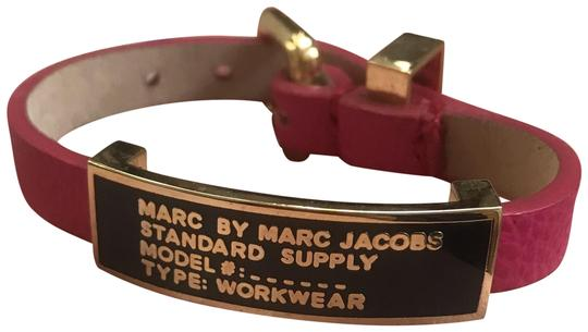 Preload https://img-static.tradesy.com/item/24546884/marc-by-marc-jacobs-hot-pink-standard-supply-leather-id-bracelet-0-2-540-540.jpg