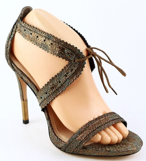 Brian Atwood Open Toe Evening Multi Color Metallic Sandals