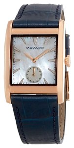 Movado Heritage White Mother Of Pearl 38mm Dial Swiss Quartz Ladies Watch