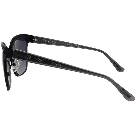 Guess By Marciano GM0742-02B-57 Rectangle Women's Black Frame Grey Lens Sunglasses NWT