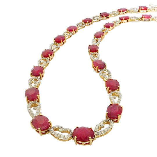 Preload https://img-static.tradesy.com/item/24546970/yellow-gold-4648ctw-ruby-and-351ctw-diamond-14kt-necklace-0-0-540-540.jpg