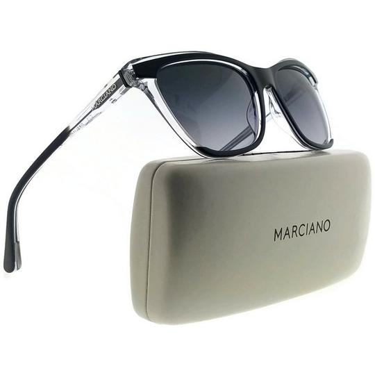 Guess By Marciano GM0758-03B-56 Square Women's Black Frame Grey Lens Sunglasses NWT