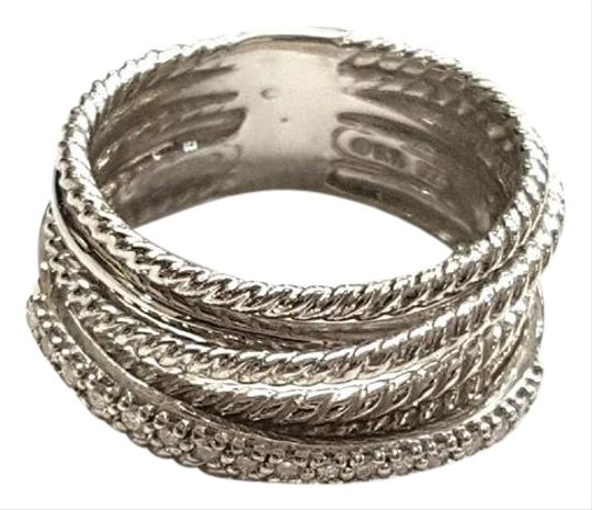 Preload https://img-static.tradesy.com/item/24546987/david-yurman-crossover-wide-cable-pave-diamond-sterling-silver-018-carat-total-weight-pave-diamonds-0-1-540-540.jpg