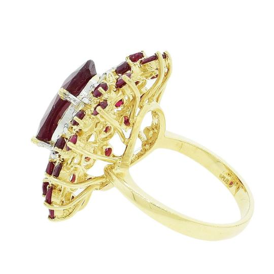 Yellow Gold 8.86ctw Ruby and 0.80ctw Diamond 14kt Ring