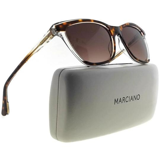 Guess By Marciano GM0758-56F-56 Square Women's Havana Frame Brown Lens Sunglasses NWT