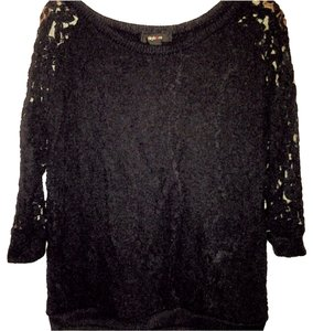 Style & Co Lace Lace Overlay Overlay Sweatshirt Sweater