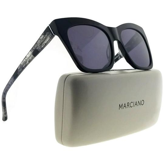 Guess By Marciano GM0759-01C-55 Cat Eye Women's Black Frame Purple Lens Sunglasses NWT