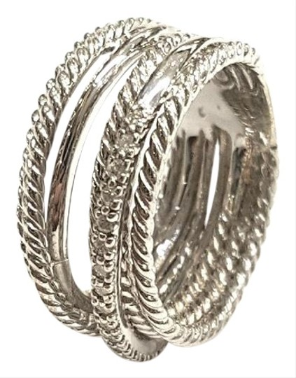 Preload https://img-static.tradesy.com/item/24547015/david-yurman-crossover-wide-cable-pave-diamond-sterling-silver-018-carat-total-weight-pave-diamonds-0-1-540-540.jpg