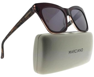 Guess By Marciano GM0759-45G-55 Cat Eye Women's Brown Frame Brown Lens Sunglasses NWT