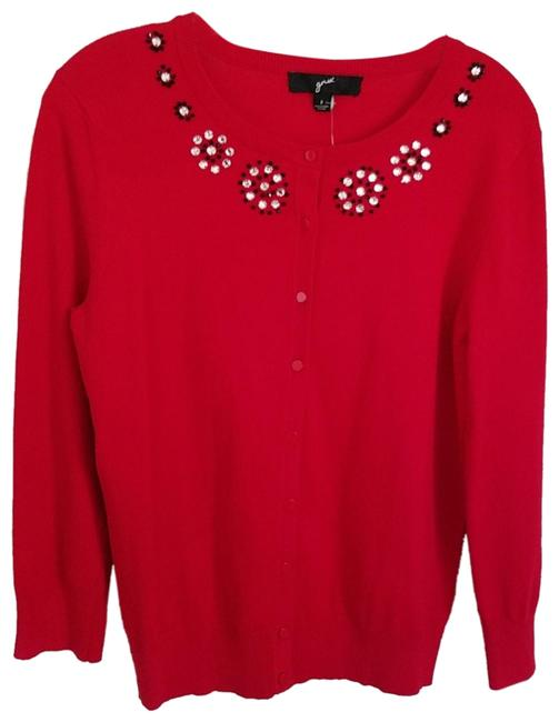 Preload https://img-static.tradesy.com/item/24547021/gnw-embellished-red-sweater-0-1-650-650.jpg