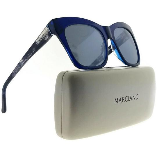 Guess By Marciano GM0759-84X-55 Cat Eye Women's Blue Frame Blue Lens Sunglasses NWT