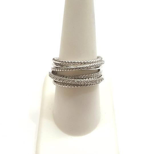 David Yurman GORGEOUS! David Yurman Crossover Wide Cable Pave Diamond Ring Sterling Silver 0.18 carat Total Weight Pave Diamonds 11mm Wide RARE Size 9 100% Authentic Guaranteed!! Comes with Original David Yurman Pouch!!