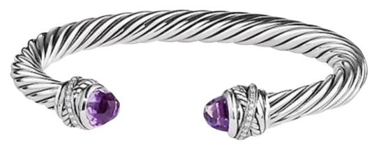 Preload https://img-static.tradesy.com/item/24547037/david-yurman-crossover-amethyst-and-diamond-cable-cuff-sterling-silver-7mm-size-small-675-013-carats-0-1-540-540.jpg