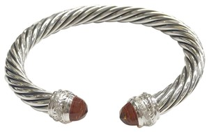 """David Yurman GORGEOUS!! David Yurman Crossover Citrine and Diamond Cable Bracelet Cuff Sterling Silver 7mm Size: Small- 6.75"""" 0.13 carats Total Weight of Round Diamonds 100% Authentic Guaranteed! Comes with Original David Yurman Pouch!!"""