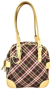 Burberry London Nova Check Heart Leather Shoulder Bag