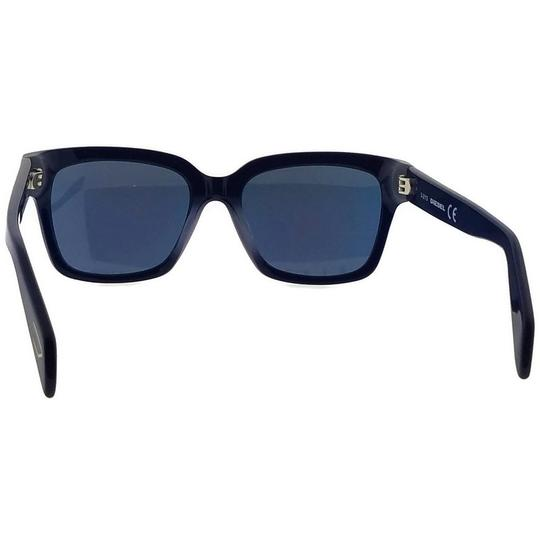 Diesel DL0073-92C-54 Rectangle Unisex Blue Frame Yellow Lens Sunglasses NWT Image 4