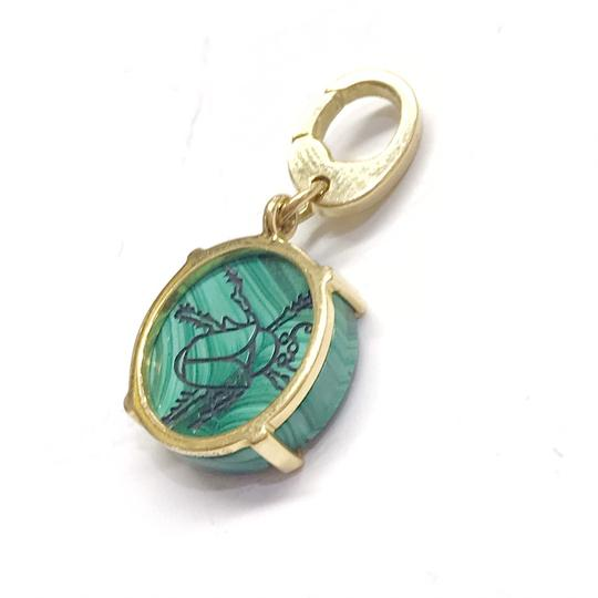 Gucci GORGEOUS!! Gucci Flora St. 18 Karat Yellow Gold and Malachite Charm 18 Karat Yellow Gold Malachite 4.4 grams 100% Authentic Guaranteed!! Image 1