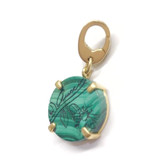 Gucci GORGEOUS!! Gucci Flora St. 18 Karat Yellow Gold and Malachite Charm 18 Karat Yellow Gold Malachite 4.4 grams 100% Authentic Guaranteed!! Image 2
