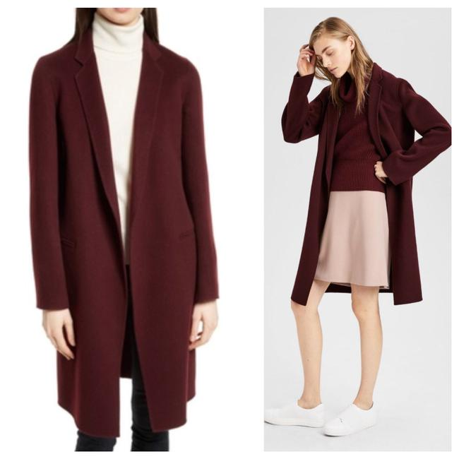 Item - Red Currant Burgundy Red Cashmere Wool New Divide Essential Coat Size 4 (S)