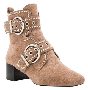 Jeffrey Campbell beige suede ankle studded Boots