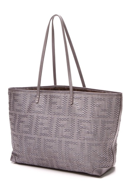 Item - Bag Shopper Roll Silver Leather Tote
