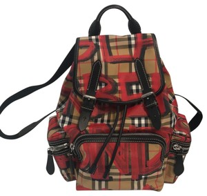 7a9a2579d54f Large Rucksack Canvas and Leather Backpack.  905.50. Burberry Backpack