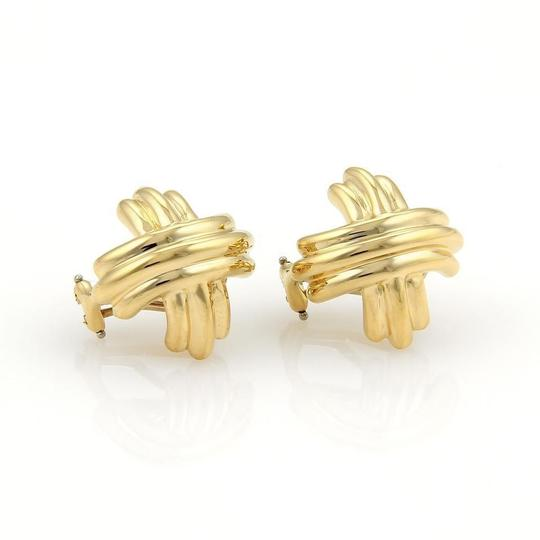 Preload https://img-static.tradesy.com/item/24547374/tiffany-and-co-18k-yellow-gold-155mm-x-crossover-post-clip-earrings-necklace-0-0-540-540.jpg