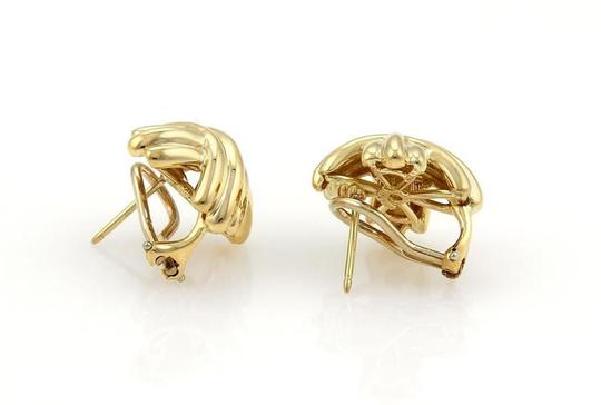 Tiffany & Co. 18k Yellow Gold 15.5mm X Crossover Post Clip Earrings Image 2