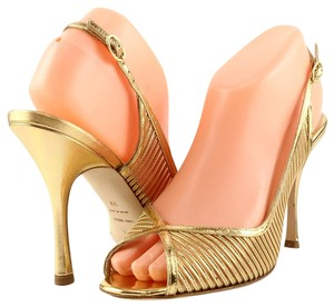 Alexandra Neel Gold Sandals