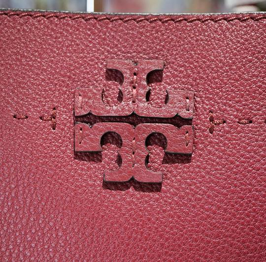 Tory Burch Tote in Imperial Garnet / Port Image 2