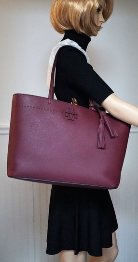 Tory Burch Tote in Imperial Garnet / Port Image 3