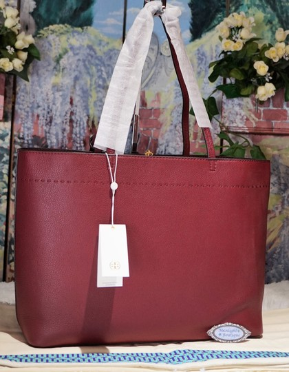 Tory Burch Tote in Imperial Garnet / Port Image 4