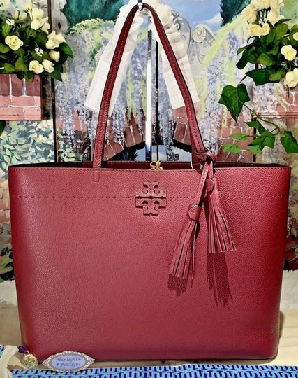 Tory Burch Tote in Imperial Garnet / Port Image 6