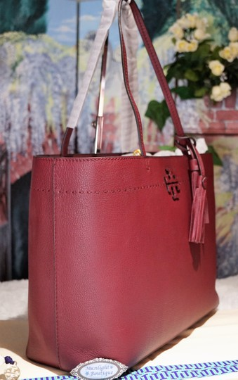 Tory Burch Tote in Imperial Garnet / Port Image 8