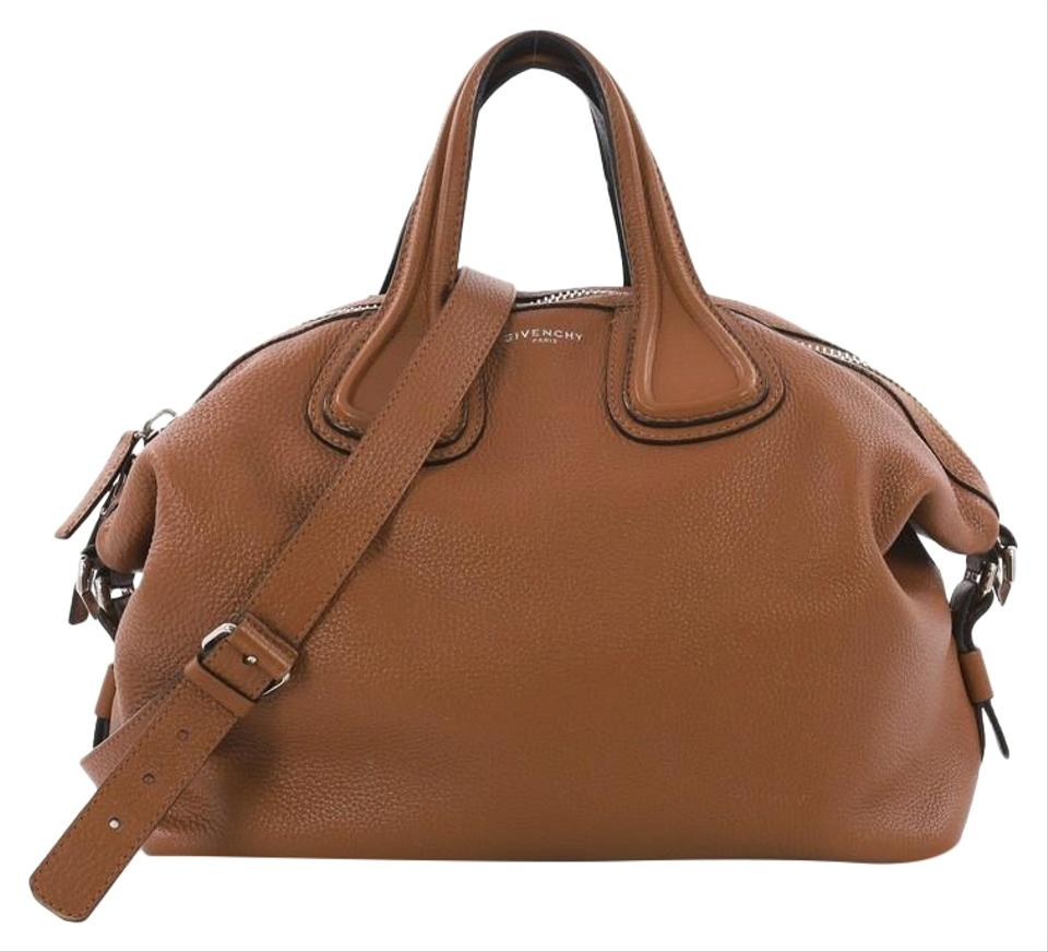 4ae300fee4 Givenchy Nightingale Waxed Medium Brown Leather Satchel - Tradesy