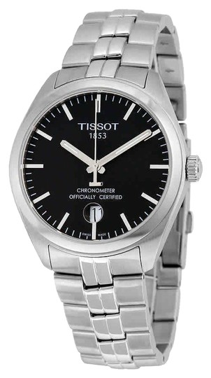 Preload https://img-static.tradesy.com/item/24547612/tissot-black-silver-tone-pr-100-cosc-date-dial-men-s-watch-0-1-540-540.jpg