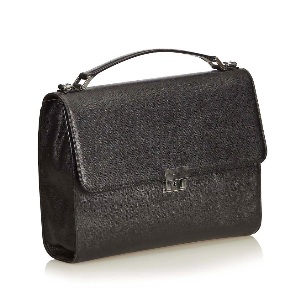 cd704b6ab69 Burberry Business Black Leather X Others Laptop Bag - Tradesy