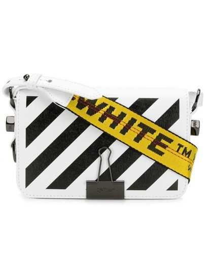 Off-White Diagonal Flap Binder Clip Off-white Diag Cross Body Bag Image 0