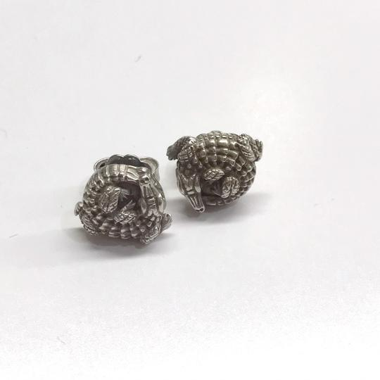 Kieselstein-Cord STYLISH!! Kieselstein-Cord Alligator Solid 18 Karat White Gold Earrings 18 Karat White Gold 8.5 grams Matte Finish Comes with Kieselstein-Cord Pouch!! 100% Authentic Guaranteed!! Image 2