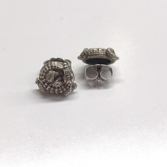 Kieselstein-Cord STYLISH!! Kieselstein-Cord Alligator Solid 18 Karat White Gold Earrings 18 Karat White Gold 8.5 grams Matte Finish Comes with Kieselstein-Cord Pouch!! 100% Authentic Guaranteed!! Image 3