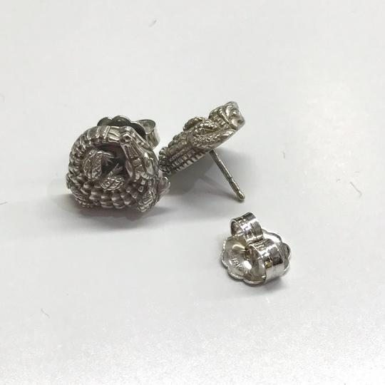 Kieselstein-Cord STYLISH!! Kieselstein-Cord Alligator Solid 18 Karat White Gold Earrings 18 Karat White Gold 8.5 grams Matte Finish Comes with Kieselstein-Cord Pouch!! 100% Authentic Guaranteed!! Image 4