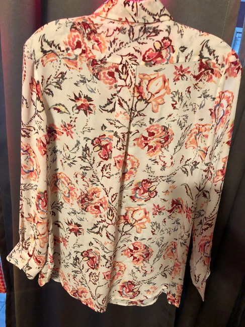 Banana Republic Button-up Warm Colors Top Floral Multi Image 4
