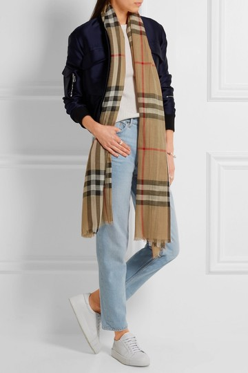 Burberry Burberry's signature check wool and silk scarf Image 1