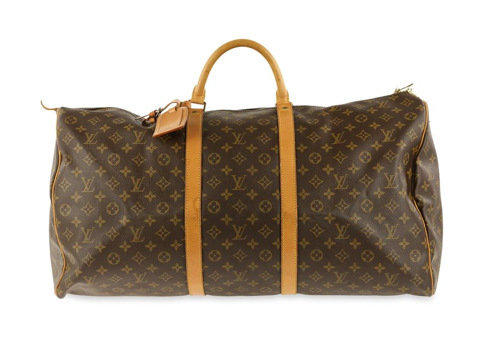 76508c56eb4fa Louis Vuitton Keepall Monogram 60 Brown Coated Canvas Weekend Travel ...